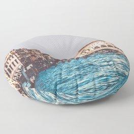 Venice Rialto Bridge, Italy Travel Artwork Floor Pillow