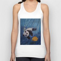 diver Tank Tops featuring Panda Diver by Michael Creese