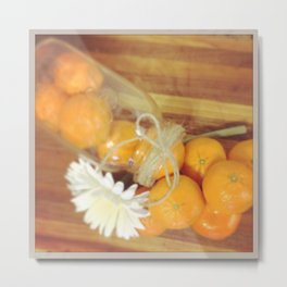 Clementines From Above Metal Print