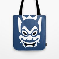 zuko Tote Bags featuring Blue Spirit by Outspire