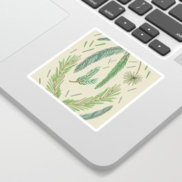 Pine Bough Study Sticker