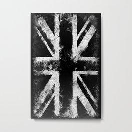 UK flag White Metal Print