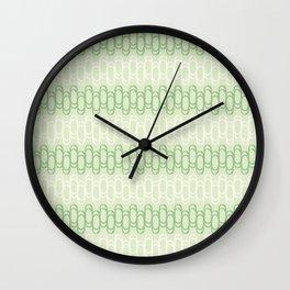 Green and yellow waves Wall Clock