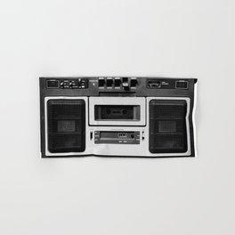 cassette recorder / audio player - 80s radio Hand & Bath Towel