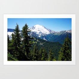Rainier view Art Print