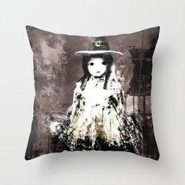 Spooky lane Throw Pillow