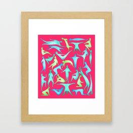 People on pink Framed Art Print