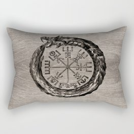 Ouroboros with Vegvisir Rectangular Pillow