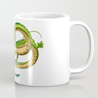 dragon ball Mugs featuring Shenron Dragon ball by OverClocked