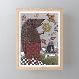 It's a Hedgehog! Framed Mini Art Print