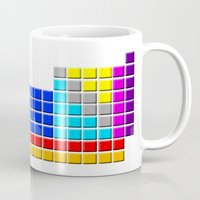 periodic table Mugs featuring PERIODIC TABLE OF ELEMENTS by darlthedreamer