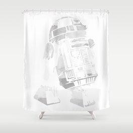 R2D2 Watercolor Shower Curtain
