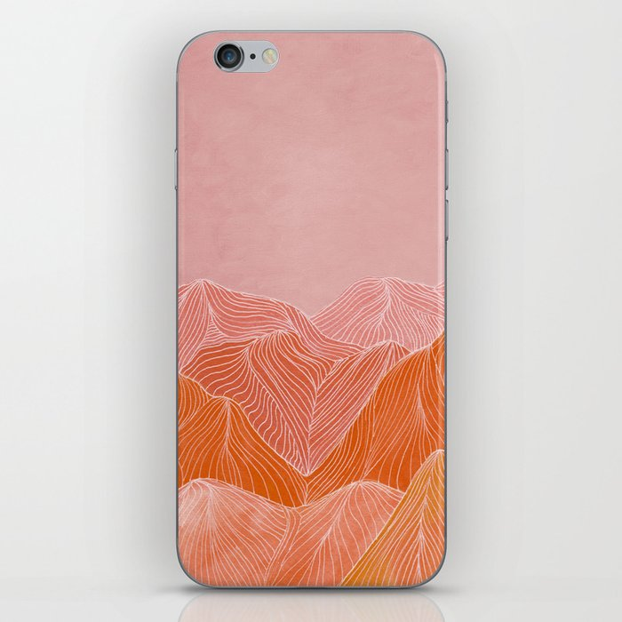 Lines in the mountains - pink II iPhone Skin
