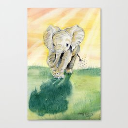 Colorful Baby Elephant Canvas Print