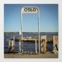 oslo Canvas Prints featuring Oslo by fedepallas