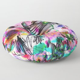 Graffiti flowers Floor Pillow