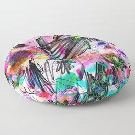 Graffiti flowers Floor Pillow