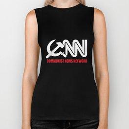 CNN Communist News Network Funny Tabloid Fake Corporate Media Trump Fraud  trump Biker Tank