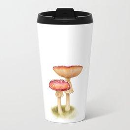 Mushroom Painting | Fly Agaric | AMANITA MASCARA | Watercolour Travel Mug