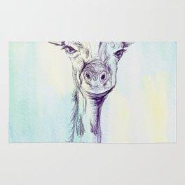 Watercolor and Ink Giraffe Rug