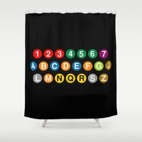 subway Shower Curtains featuring NYC Subway! by byebyesally