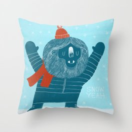 Snow Yeah Throw Pillow