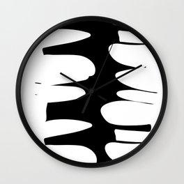 Precarious b&w Wall Clock