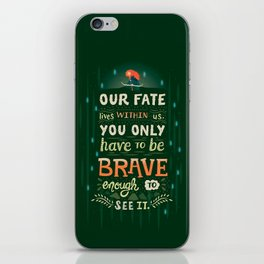 Would you change your fate? iPhone Skin