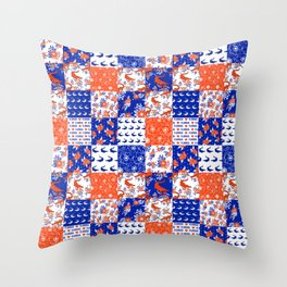 Florida University gators swamp life varsity team spirit college football quilted pattern gifts Throw Pillow