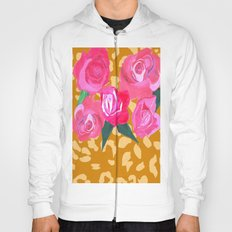 Floral and Tiger Print Hoody