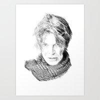 david olenick Art Prints featuring David by Rabassa