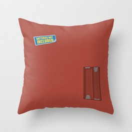 Batteries Not Included ~ Medium Carmine Throw Pillow