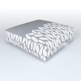 Half Knit Grey Outdoor Floor Cushion