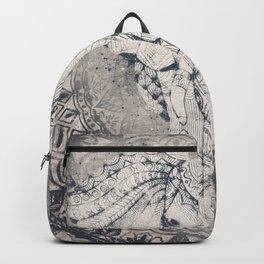 Indian Elephant Mandala Backpack