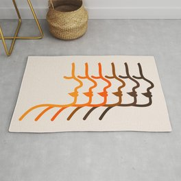 Golden Silhouettes Rug