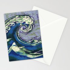 Batik waves 2 Stationery Cards