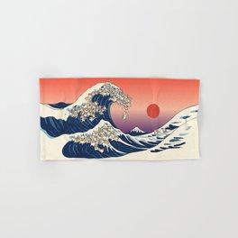 The Great Wave of Corgis Hand & Bath Towel