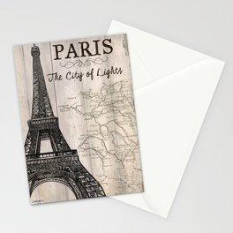 Vintage Travel Poster Paris Stationery Cards