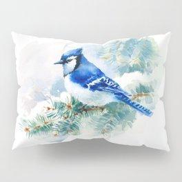Watercolor Blue Jay Pillow Sham