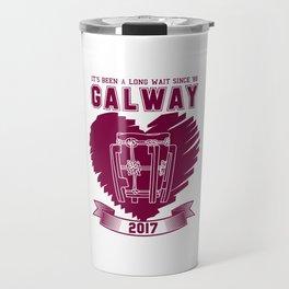 All Ireland Senior Hurling Champions: Galway (White/Maroon) Travel Mug