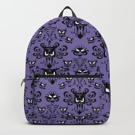 Purple Haunted Mansion Wallpaper Backpack