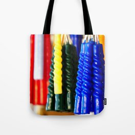 the colors of hope in candles Tote Bag