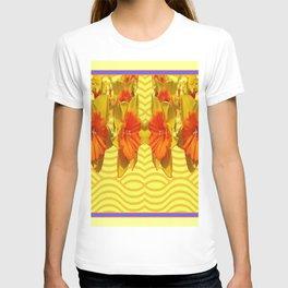 Golden Daffodils Pattern T-shirt