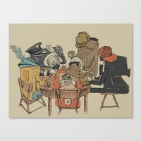 poker Canvas Prints featuring Polaroid Poker by Romayne Robinson
