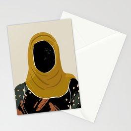 Black Hair No. 13 Stationery Cards