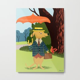 Mister Barkly Goes To The Park Metal Print