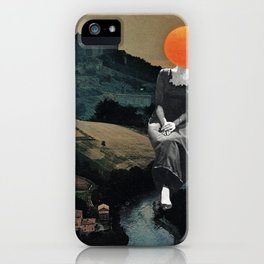 Lady Moon Head iPhone Case