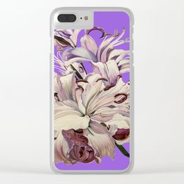 """""""Purple Lilies"""" Clear iPhone Case"""