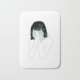 A little bit dissapointed in humanity / Illustration Bath Mat