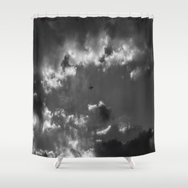 Plane and storm Shower Curtain